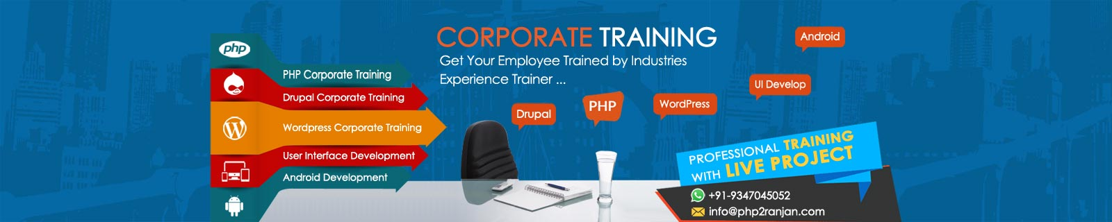 corporate php, webdesign trainer